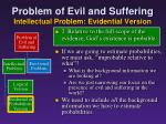 problem of evil and suffering intellectual problem evidential version7