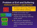 problem of evil and suffering intellectual problem logical version5