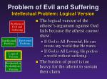 problem of evil and suffering intellectual problem logical version7