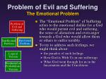 problem of evil and suffering the emotional problem
