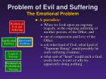 problem of evil and suffering the emotional problem1