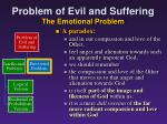 problem of evil and suffering the emotional problem2