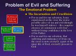 problem of evil and suffering the emotional problem6