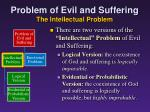 problem of evil and suffering the intellectual problem