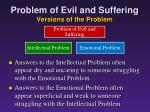 problem of evil and suffering versions of the problem2