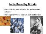 india ruled by britain