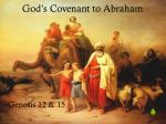 god s covenant to abraham
