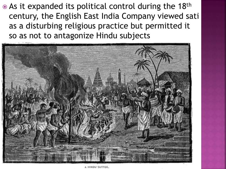 As it expanded its political control during the 18