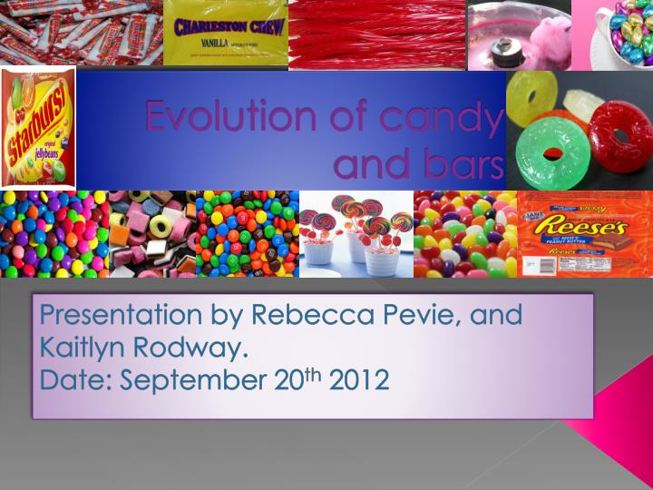 evolution of candy and bars n.