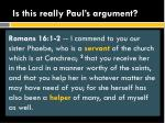 is this really paul s argument1