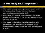 is this really paul s argument2