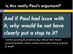is this really paul s argument3