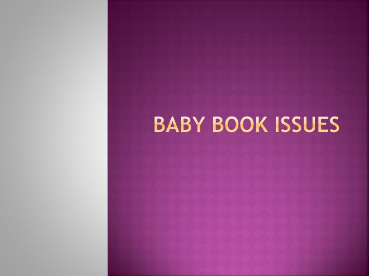 baby book issues n.