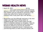 webmd health news