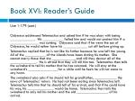 book xvi reader s guide1