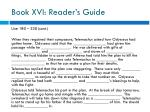 book xvi reader s guide3