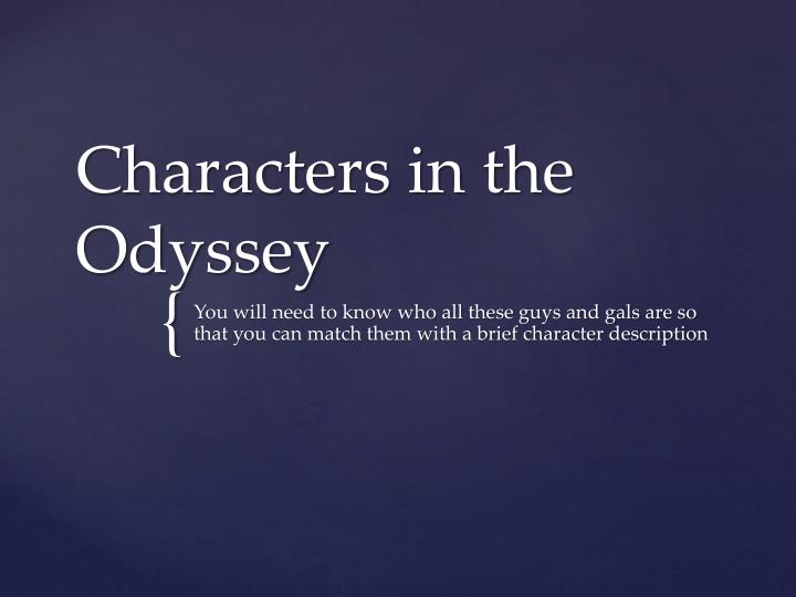 characters in the odyssey n.