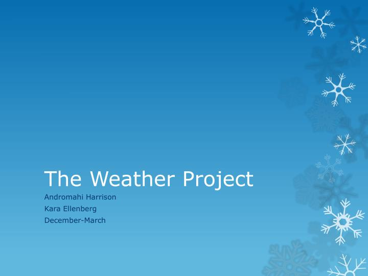 the weather project n.