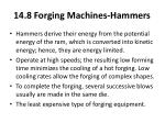 14 8 forging machines hammers