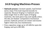 14 8 forging machines presses