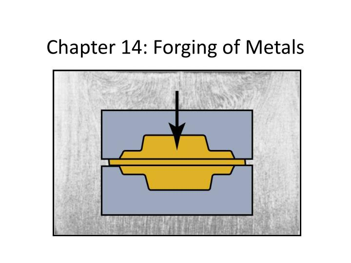 chapter 14 forging of metals n.