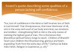 swami s quote describing some qualities of a person lacking self confidence