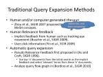 traditional query expansion methods1