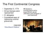 the first continental congress s