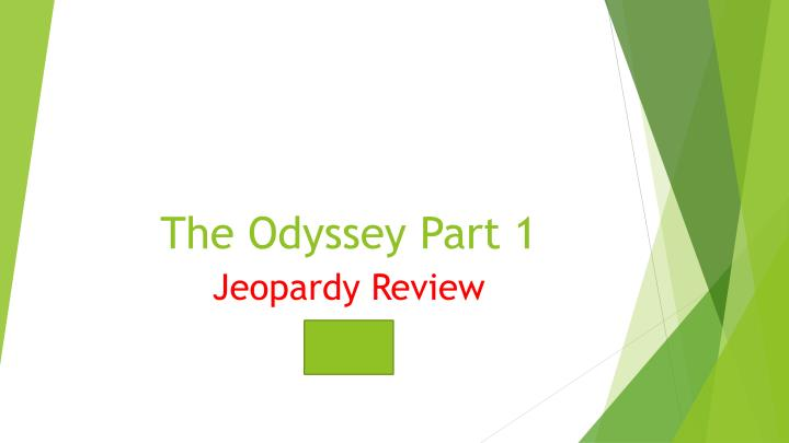 the odyssey part 1 n.