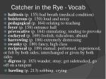 catcher in the rye vocab