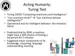 acting humanly turing test