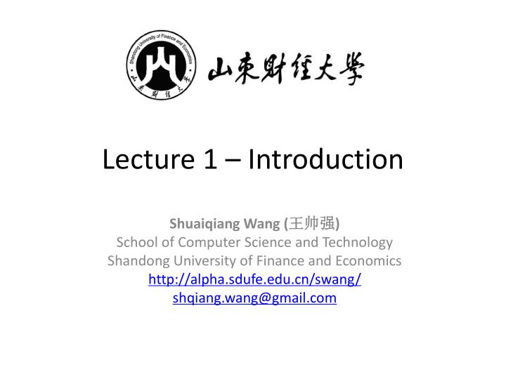 lecture 1 introduction n.