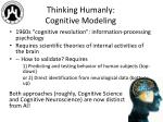 thinking humanly cognitive modeling