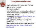 claus johann von baranoff
