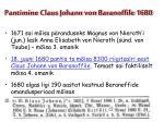 pantimine claus johann von baranoffile 1680