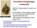 peter johann georg gregor von baranoff