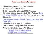 peter von baranoff lapsed