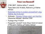 peter von baranoff