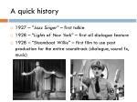 a quick history1