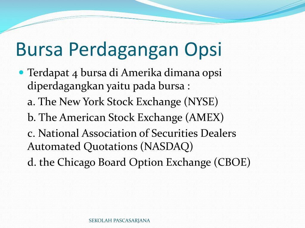 Mekanisme Opsi Saham dalam Investasi | Manejemen Investasi dan Pasar Modal | Ujang Syamsul Arif