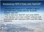 accessing hdf4 data with netcdf