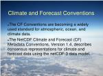 climate and forecast conventions