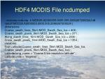 hdf4 modis file ncdumped