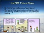 netcdf future plans