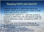 reading hdf5 with netcdf