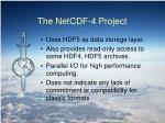 the netcdf 4 project