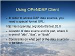 using opendap client