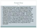 fungsi blog