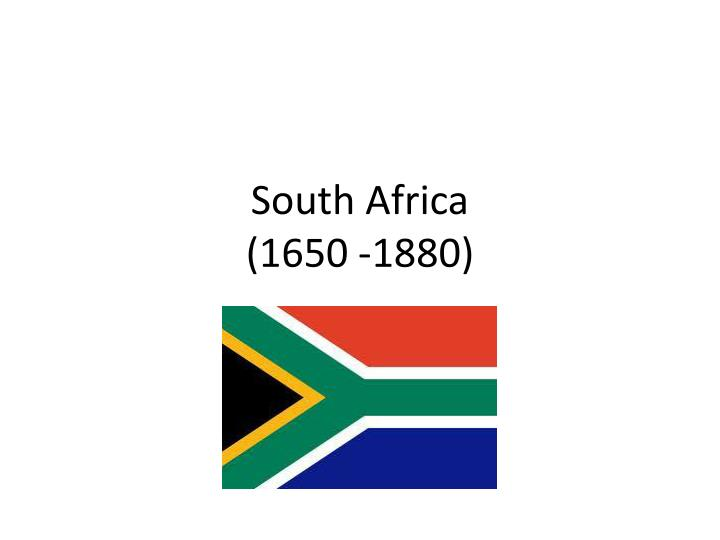 south africa 1650 1880 n.