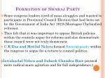 formation of swaraj party